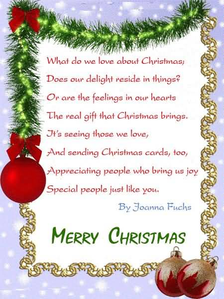 Christmas Poems Image Picture Photo Wallpaper 16
