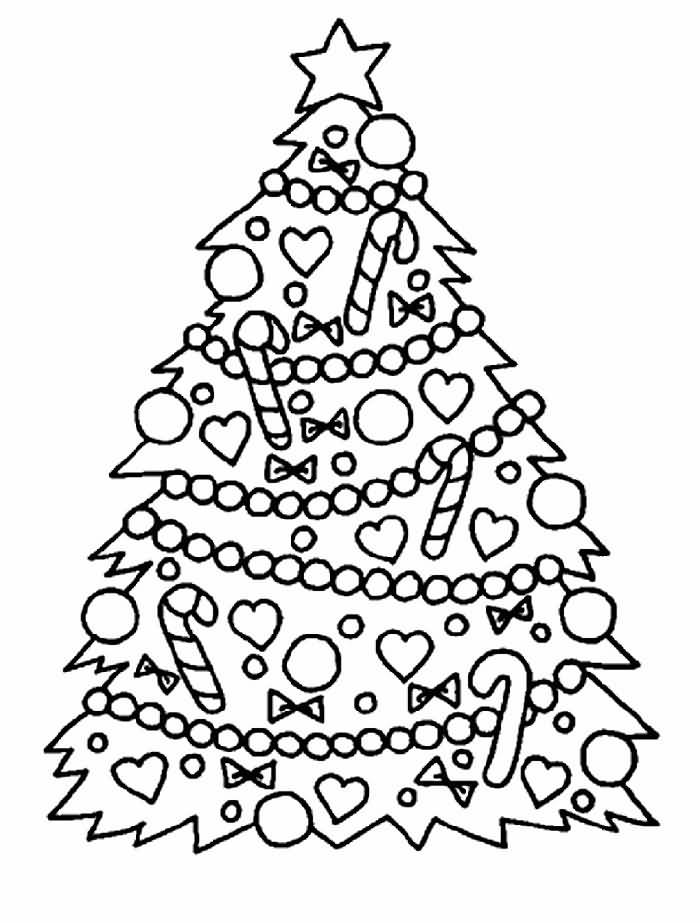 Christmas Tree Coloring Pages Image Picture Photo Wallpaper 02