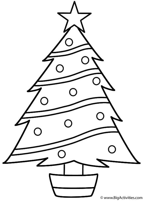 Christmas Tree Coloring Pages Image Picture Photo Wallpaper 03