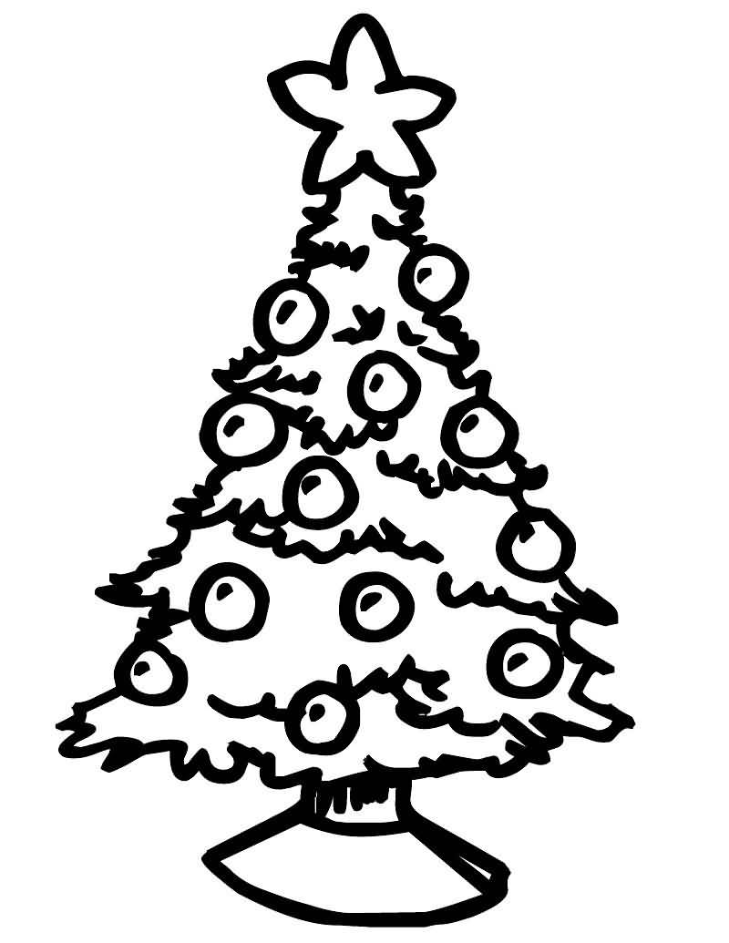 Christmas Tree Coloring Pages Image Picture Photo Wallpaper 11