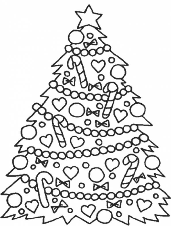 Christmas Tree Coloring Pages Image Picture Photo Wallpaper 13