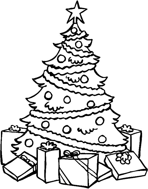 Christmas Tree Coloring Pages Image Picture Photo Wallpaper 15