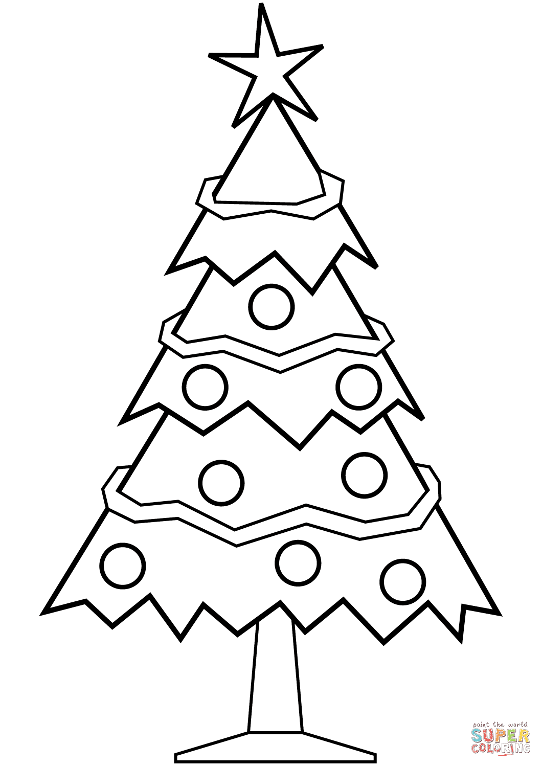 Christmas Tree Coloring Pages Image Picture Photo Wallpaper 16