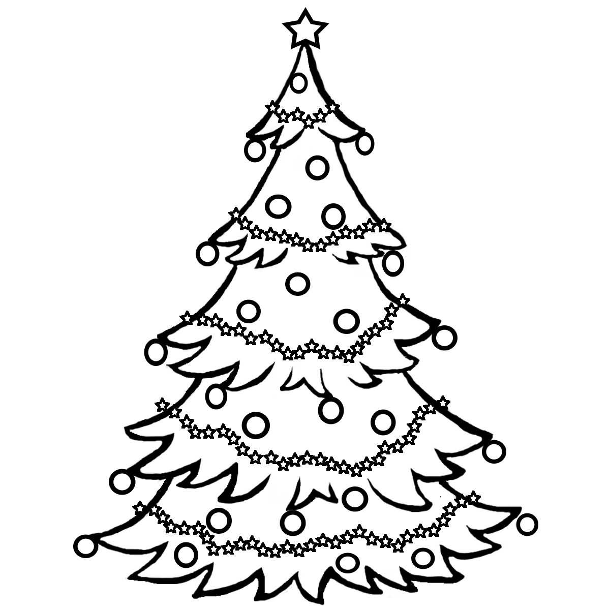 Christmas Tree Coloring Pages Image Picture Photo Wallpaper 17
