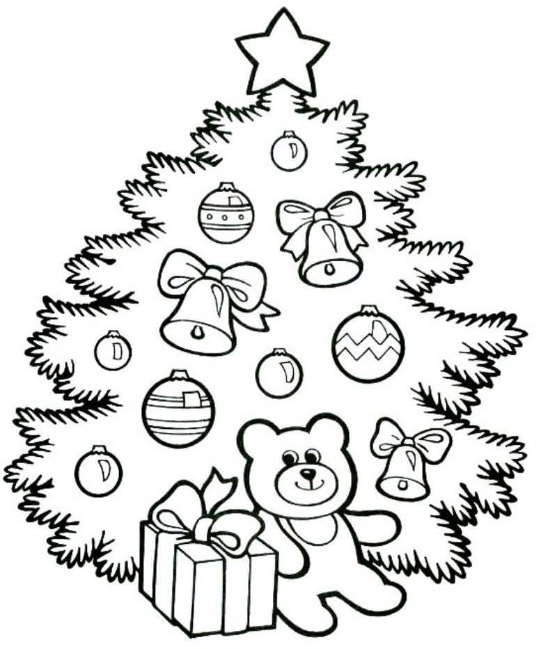 Christmas Tree Coloring Pages Image Picture Photo Wallpaper 18