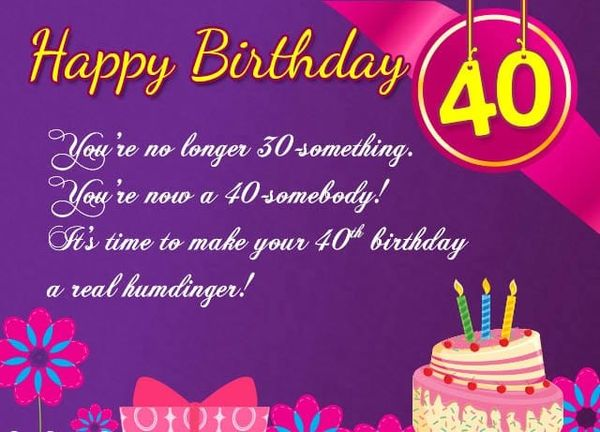 Funniest 40 Year Old Birthday Images Jokes
