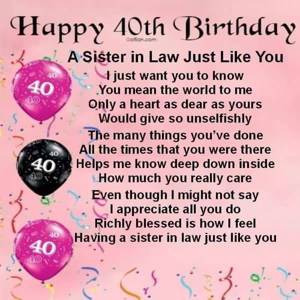 Funniest 40th Birthday Messages for Sister Memes