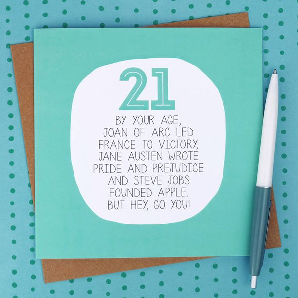 Funniest Images of 21st Birthday Cards Joke