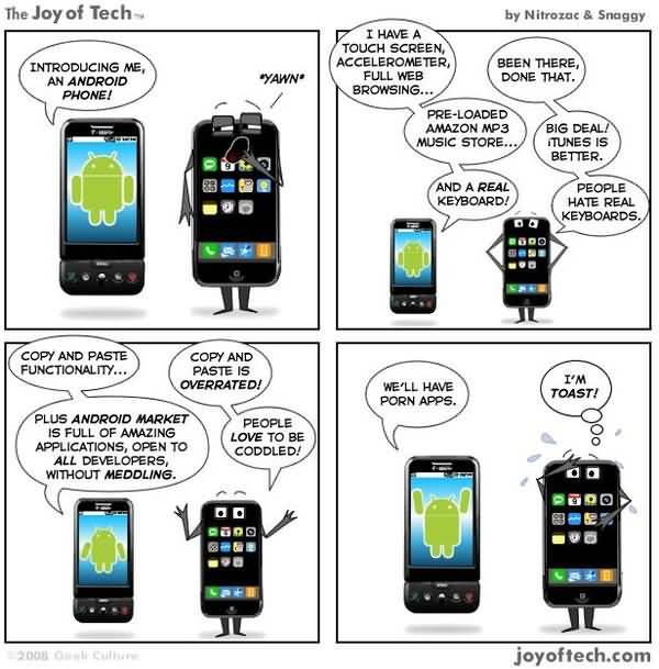 Funniest Iphone Users Vs Android Users Meme Wallpaper