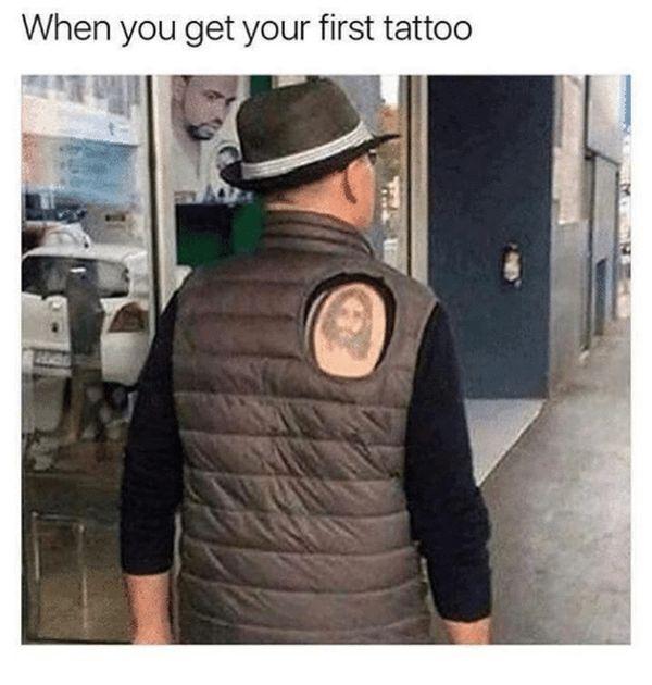 Funniest cool first tattoo meme joke