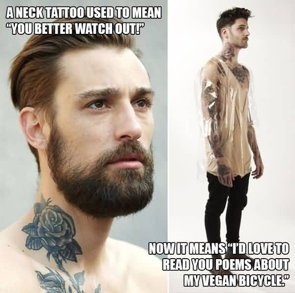 Funniest cool neck tattoo meme picture