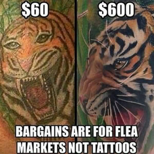Funniest cool tiger tattoo meme joke