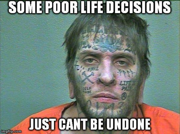 Funniest face tattoo meme image