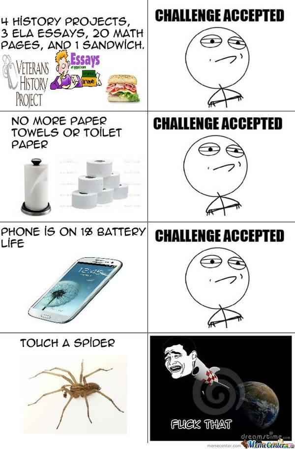 Funny Challenge Accepted Comics Meme