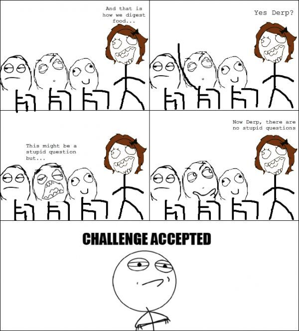 Funny Challenge Accepted Comics Memes