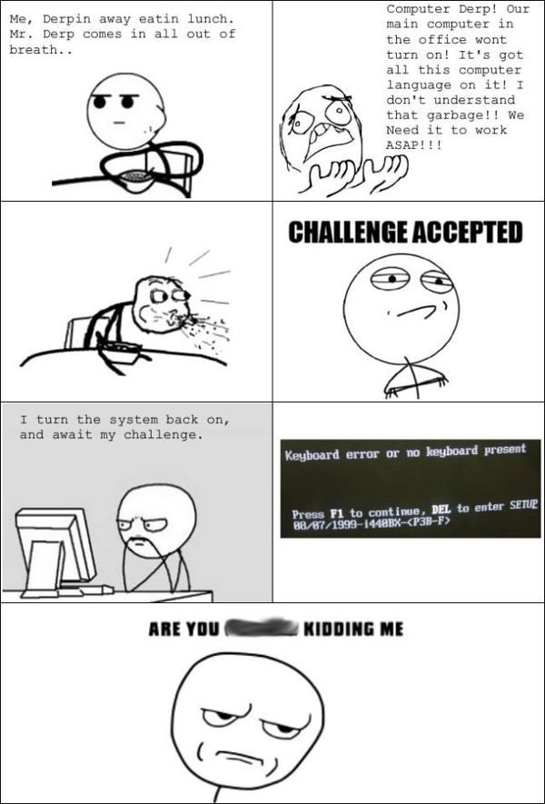 Funny Challenge Accepted Comics Picture