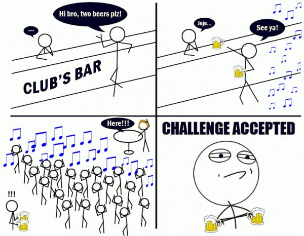 Funny Challenge Accepted Meme Face Graphics