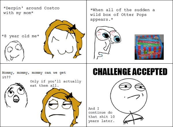 Funny Challenge Accepted Meme Face Photos