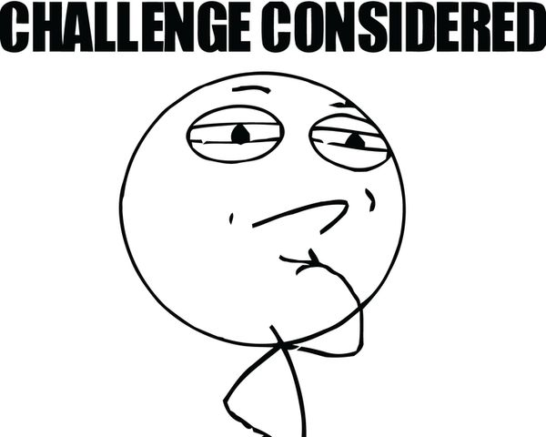 Funny Challenge Accepted Meme Face Picture