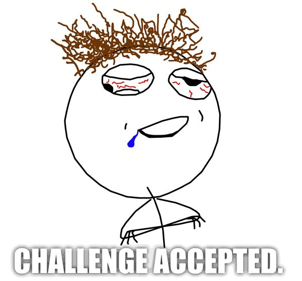 Funny Challenge Accepted Meme Face Pictures