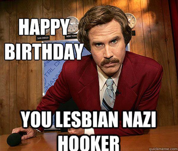 Funny Cool lesbian birthday meme photo