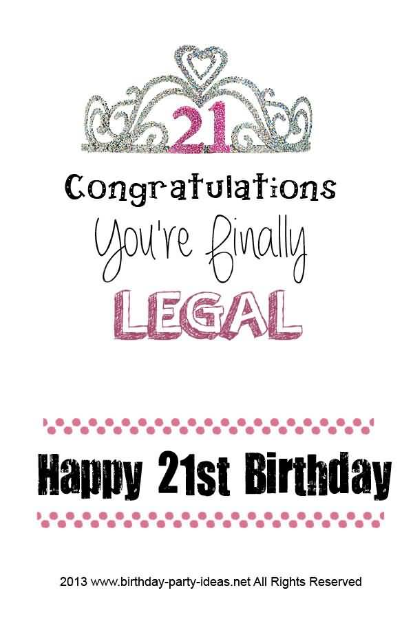 Funny Happy 21st Birthday Images for Her Meme
