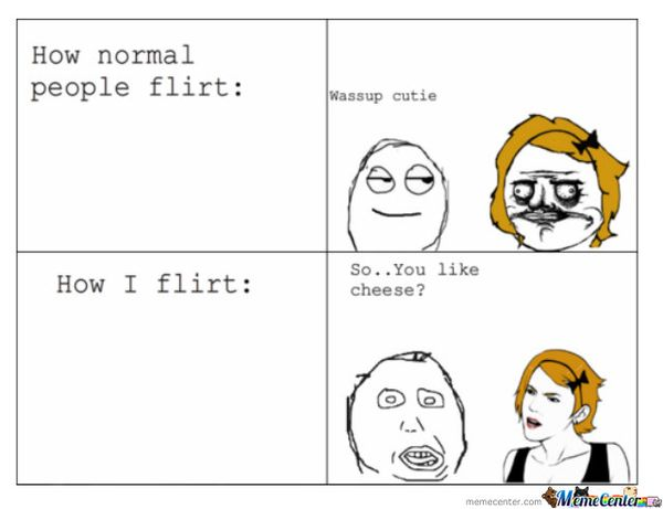 Funny bad flirting meme image
