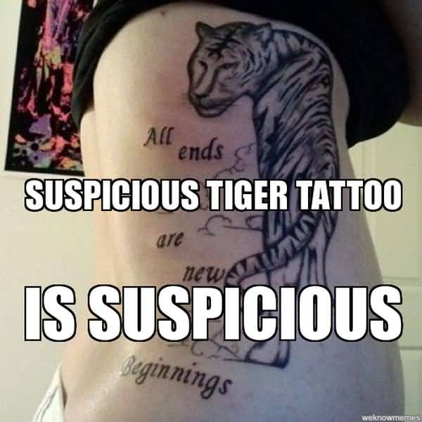 Funny best tiger tattoo meme joke quotesbae for Funny tattoo memes