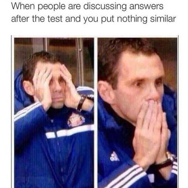 Funny college stress meme image