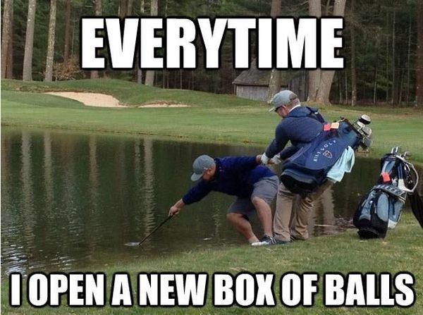 Funny cool humorous golf memes photo