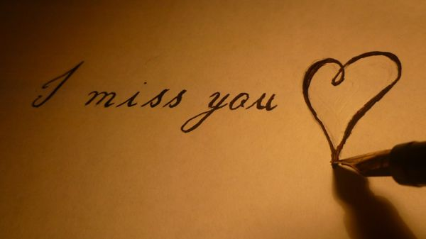 Funny drew heart miss you meme image