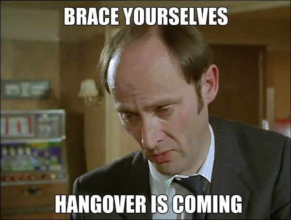 Funny drunk hangover meme wallpaper