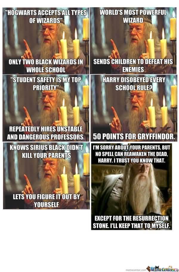 Funny dumbledore memes picture