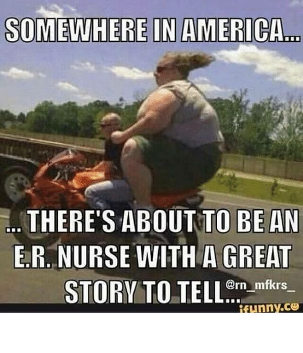 Funny er nurse meme photo