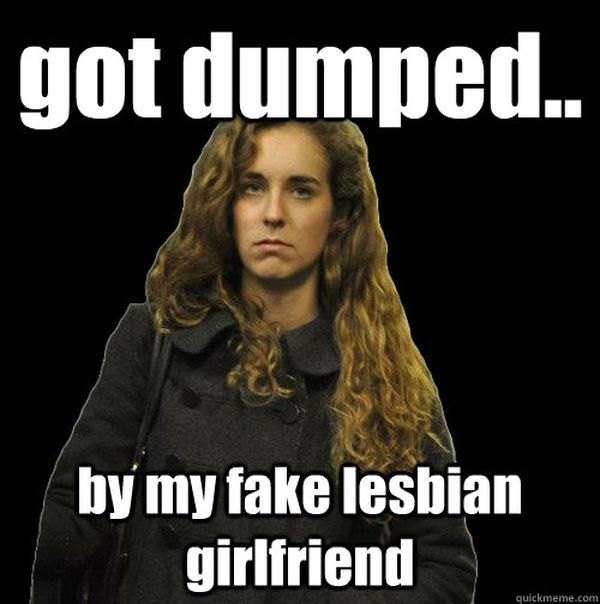 Funny fake lesbian meme image