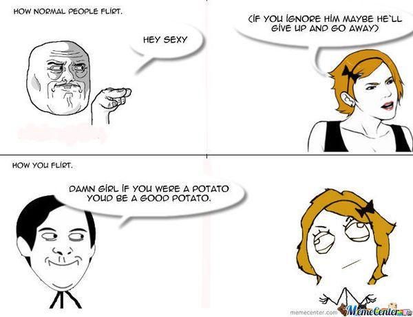 Funny flirting meme joke