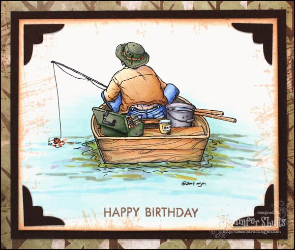 Funny happy birthday fisherman meme