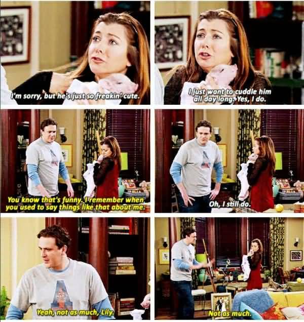 Funny how i met your mother lily and marshall memes jokes