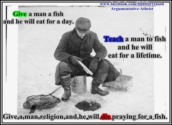 Funny ice fishing meme image