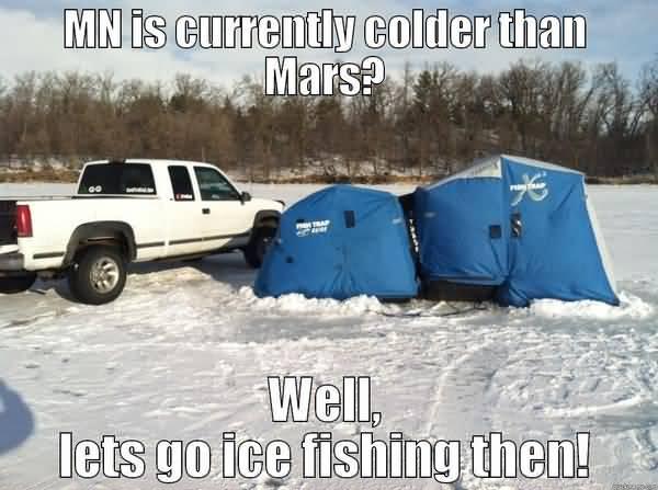 Funny ice fishing meme photo