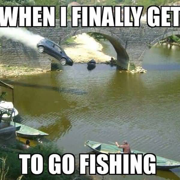 Funny silly fishing meme photo
