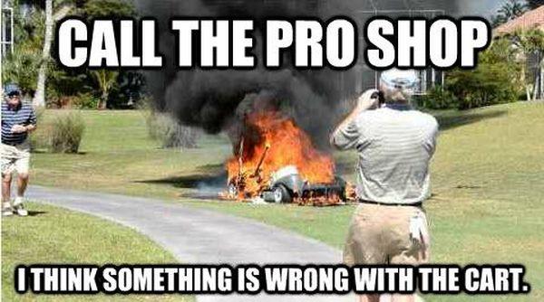 Funny stupid golf meme photo