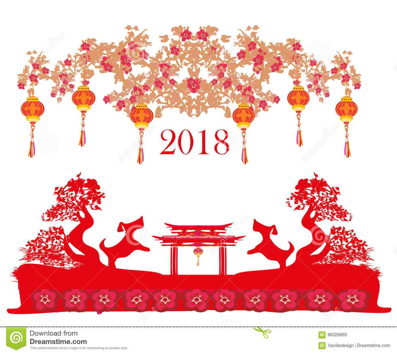 Happy Chinese New Year 2018 Cards Image Picture Photo Wallpaper 04