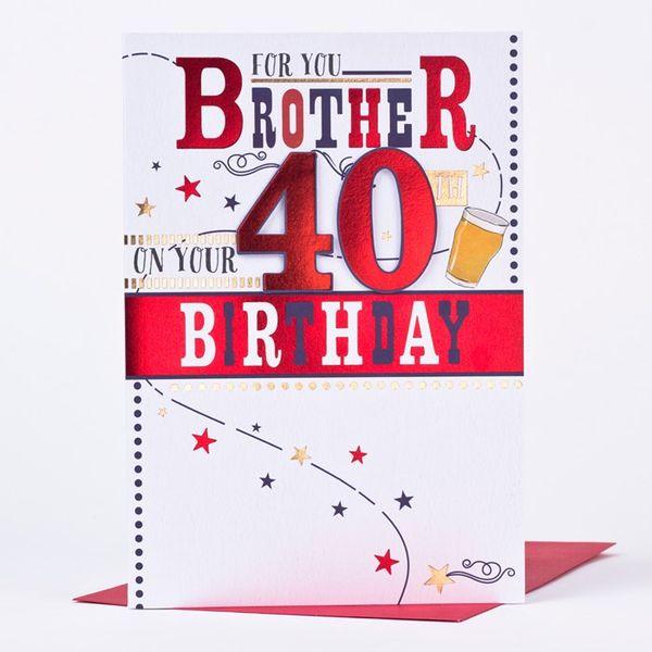 Hilarious Happy Big 40th Birthday Card Image