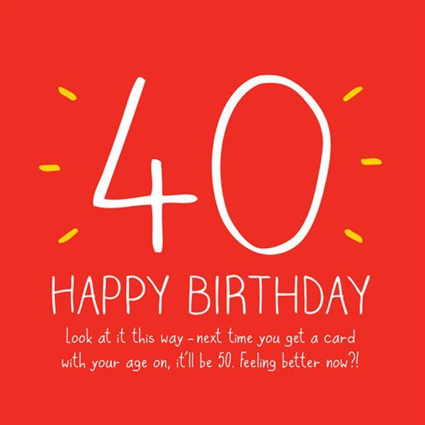 Hilarious Happy Big 40th Birthday Card Meme