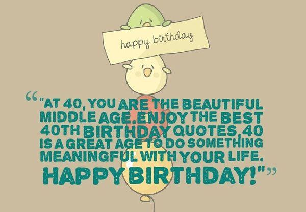 Hilarious Happy Birthday 40 Quotes Jokes