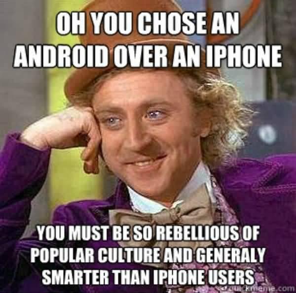 Hilarious Iphone User Meme Image