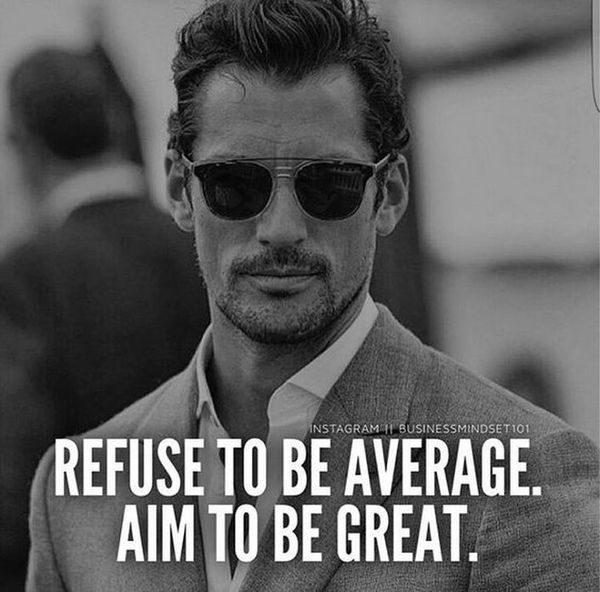 Hilarious Refuse To Be Average Motivational Quotes Meme Image