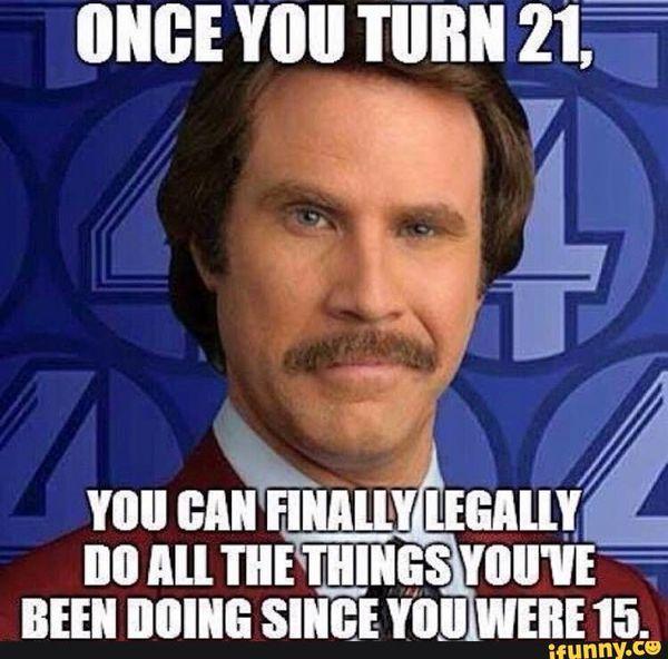 Hilarious Turning 21 Meme Joke