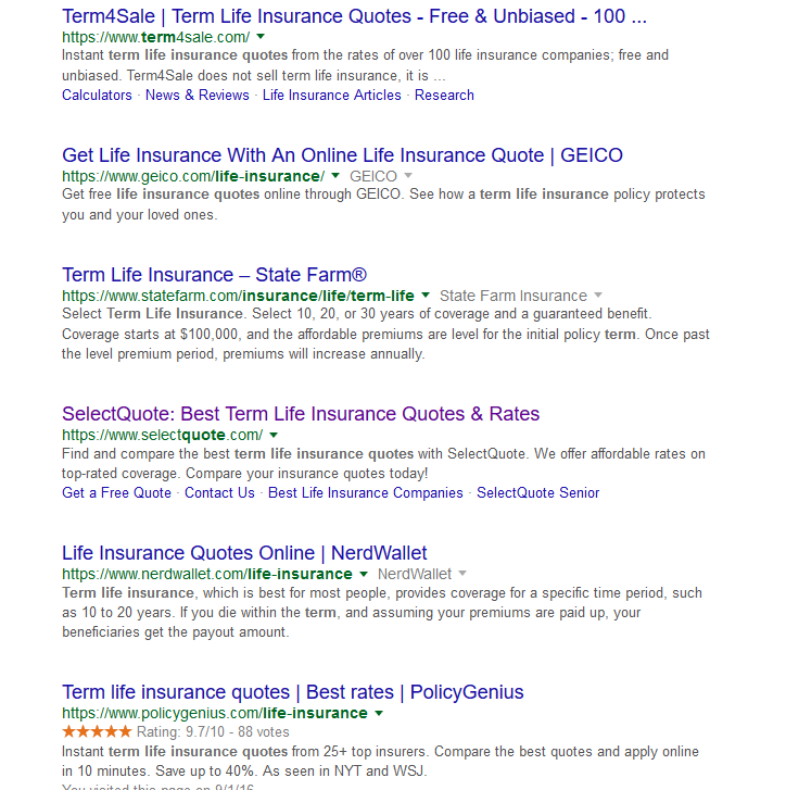 Life Insurance Quote Online: Instant Term Life Insurance Quotes Online 17